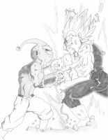 Dragon Ball Z- Vegeta vs Buu by TLOWE1992
