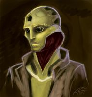 ME2: Thane sketch by rooster82
