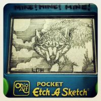 Etch-A-Sketch Art:: Werewolf by Wolfish-Dreams