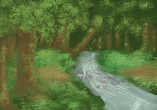 quick forest sketch by Rrysva