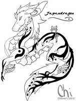 Prize - Japandragon Lineart by Chico-2013