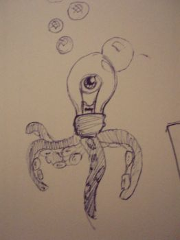 lightbulb creature by crazy-croco