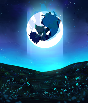 Full Moon Flight by riley-the-ambivert