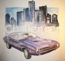 Dodge Challenger by Arahiriel