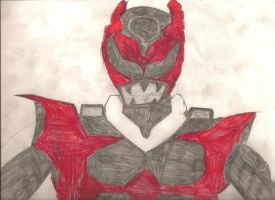 Psycho Ranger's V3: Psycho Red by DarkAlicornWarrior