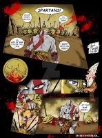 300 VS GOD OF WAR by BIG-D-ARTiZ