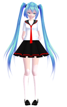 TDA Hatsune Miku High School Style by HunterK07