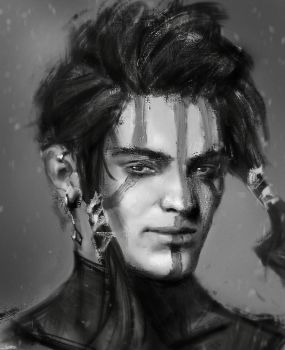 Portrait speedpainting 15.06.17 by Angrysausage