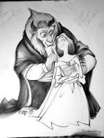 Beauty and the Beast inks by danablackarts