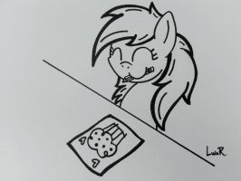 Derpy the Artist by DubstepBrony4Life