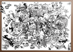 2nd Pokemon Generation Ink Drawing by DRLM