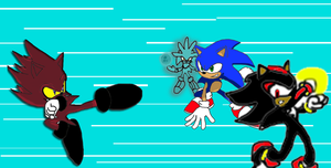 Nazo vs Sonic Shadow an Silver by ShadowlovesFelicia