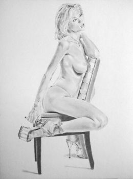 Drawing of 'Paper Doll Princess',photo by Tom Lane by stevie-wydder