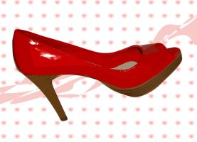 my red pumps by ultrafemme
