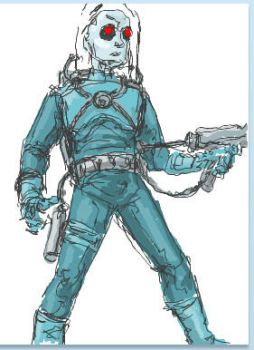 Mr. Freeze Sketch by darthcarloos