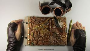 Steampunk sketchbooks by Apirusova-Basti