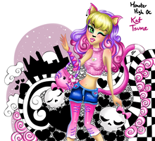 Monster High OC Kat Tsume Doodle comission by JamilSC11