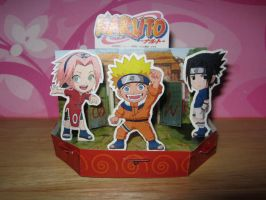 Naruto mini diorama by lissyo