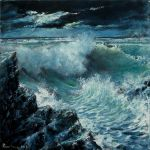seascape Moonlight oil paint by Boias