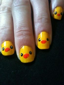 Duckie nail art by me-and-jd
