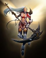 lady death scythe by DXSinfinite