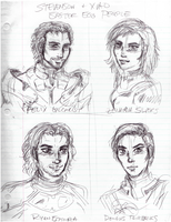 Easter egg people sketches 1 by AmethystSadachbia