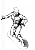 Naked...Silver Surfer! by TJWood-UK