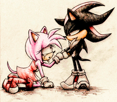 shadow and amy by AngelBunnyXOXO