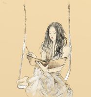 The girl on a swing by Croppis