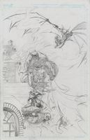 Batman Prelim Pencils by KenHunt