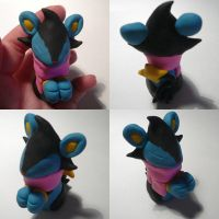 Pink Scarf Luxio by ChibiSilverWings
