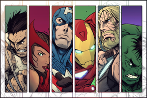 The Avengers by TiagoMontoia