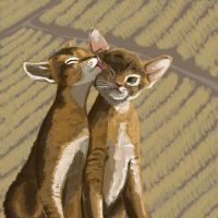 Realism - Kittens with Wheat by wunleebuxton