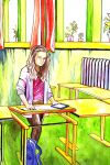 In the classroom by mirenne