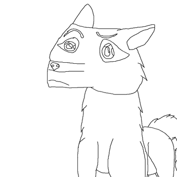 Wolf or dog lineart by Rose-319