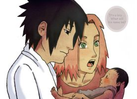 New Family Member - sasusaku by polale21