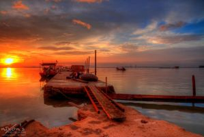 Sunrise of Dove Jetty, Penang - The dock 4 by fighteden