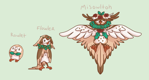 Rowlet evos by blackmailchan