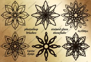 photoshop brushes stained glass snowflake by Lyotta