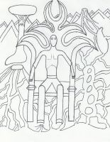 Throne of Flames uncolored by Kuwathen