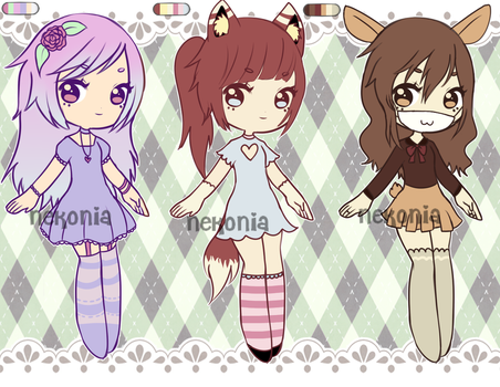 Pastel Adoptable Batch [OPEN AUCTION] by KittenAdopts