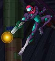 Metroid Fusion: Gravity Suit by gineko