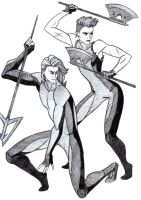 Hunger Games: Finnick and Johanna by Lana125