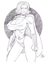 Power Girl by MichaelPowellArt