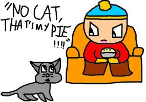 Cartman and Mr Kitty by Raygirl1997