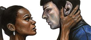 Spock and Uhura Scene by AshleighPopplewell