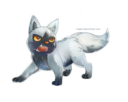 Kuren the Poochyena by Singarl