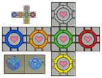 Rubik's companion cube from Portal by melopruppo