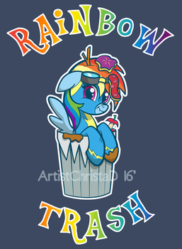 Rainbow Trash by ChrisWithATa
