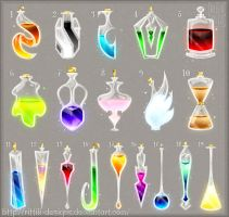 Potions (set 8) by Rittik-Designs